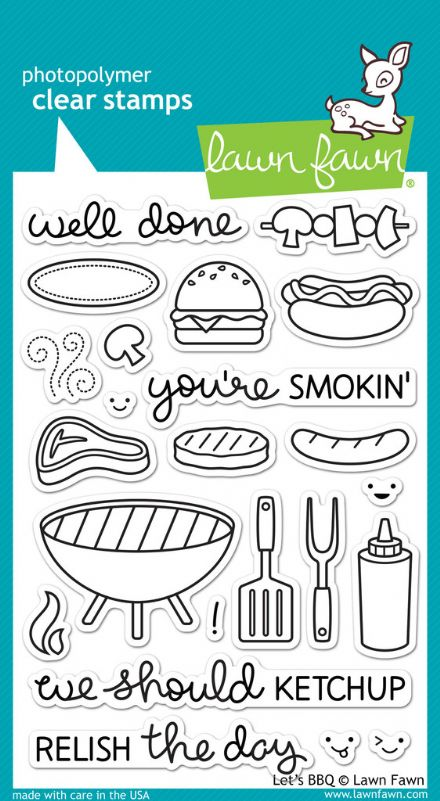 LF0889 ~ LET'S BBQ ~ CLEAR STAMPS BY LAWN FAWN